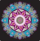 Ornamentacyjny round koronki wzór. Delikatny okrąg. Zdjęcie Stock
