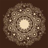 Ornamentacyjny round koronki wzór. Delikatny okrąg Obraz Stock