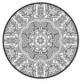 Ornamentacyjny round koronki wzór jak mandala Zdjęcia Royalty Free
