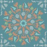 Ornamentacyjny round koronki wzór, okrąża patern z wiele szczegółami, szydełkuje handmade koronkę, koronkowi arabesk projekty ori Zdjęcia Royalty Free