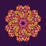 Ornamentacyjny round koronki wzór, okręgu wektoru tło Fotografia Stock
