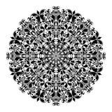 Ornamentacyjny round wzór royalty ilustracja