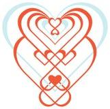 Ornamentacyjny serce Zdjęcia Stock