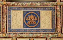 Ornamentacyjny sufit w Watykańskim muzeum, Rzym, Włochy Obraz Stock