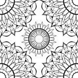Ornamentacyjny tło z czerń wzorem royalty ilustracja