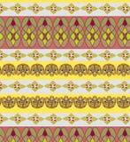 Ornamentacyjny wzór lampasy i geometryczni kształty Zdjęcia Stock