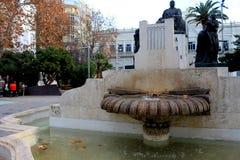 Ornamentacyjny zabytek jako uznanie Ruperto chapà lub dedykujący, sławny Hiszpański muzyk zdjęcie stock
