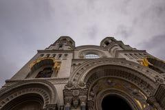 Ornamentacyjny zewnętrzny wystrój katedra Zdjęcie Stock