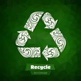Ornamentado recicle o símbolo Imagem de Stock