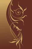 ornamental предпосылки флористический Стоковое Изображение RF