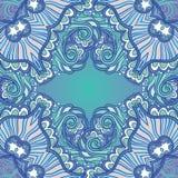 ornamental предпосылки голубой Стоковое Изображение RF