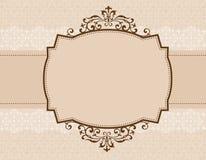 ornamental приглашения предпосылки Стоковое Фото