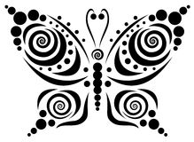 ornamental 5 бабочек Стоковые Фотографии RF