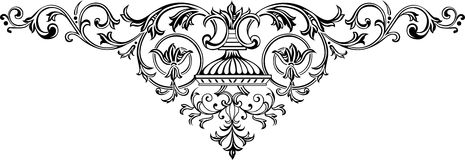 Ornamental 5 stock illustration