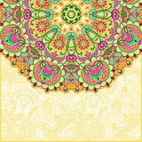Ornamental abstract circle floral background. With place for your text Vector Illustration