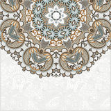 Ornamental abstract circle floral background Stock Photos