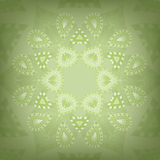 Ornamental round background with paisley Royalty Free Stock Photo