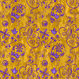 Ornamental abstract floral elements. Hippie style seamless pattern Royalty Free Stock Photo