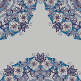 Ornamental abstract pattern in corners. Decorative element corners. Abstract pattern for invitation card Royalty Free Stock Photo