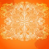 Ornamental abstract round color lace pattern Royalty Free Stock Image