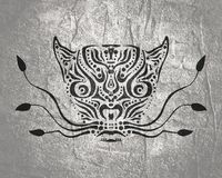 Ornamental animal tattoo Royalty Free Stock Photography