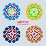 Ornamental arabe de vecteur Photo stock