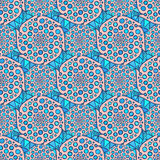 Ornamental arabic pattern. Vector indian background. Illustration for wrapping paper, packaging design, textile fabric Royalty Free Stock Images