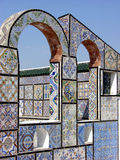 Ornamental arches on roof top terrace in Tunisia Royalty Free Stock Photography