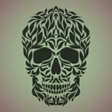 Ornamental art of a skull Stock Photos