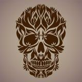 Ornamental art of a skull Royalty Free Stock Photography