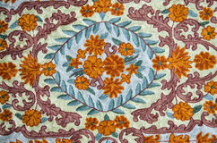 Ornamental asian cloth background Stock Images