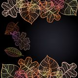 Ornamental background with art autumn leaves Royalty Free Stock Image
