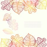 Ornamental background with art autumn leaves. Royalty Free Stock Photo