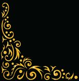 Ornamental background, black and gold Royalty Free Stock Image