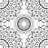 Ornamental background with black pattern Royalty Free Stock Image