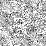 Ornamental background composed of floral elements Stock Image