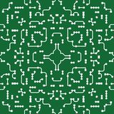 Seamless Ornamental background in PCB-layout style vector illustration