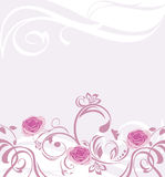 Ornamental background with pink roses Stock Images