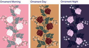 Ornamental background with roses Stock Images