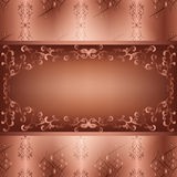 Ornamental background with seamless pattern Stock Photography