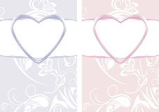 Ornamental backgrounds to the Valentines day Royalty Free Stock Photography
