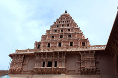 Ornamental balcony with bell tower of the thanjavur maratha palace Stock Photos
