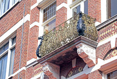 Ornamental balcony on the building at town The Hague, Netherland Stock Photo