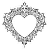 Ornamental Balinese style heart.  Vector Valentine's day ornate Royalty Free Stock Image