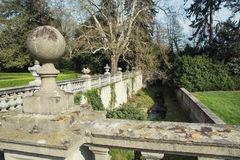 Ornamental balustrade in park Buchlovice Royalty Free Stock Image