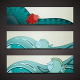 Ornamental banner Stock Photography