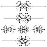 Ornamental Bar Line Divider 42 Royalty Free Stock Photos