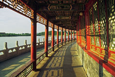 Ornamental, beautiful buildings at longevity hill in summer pala Royalty Free Stock Image