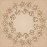 Ornamental beige vector background Royalty Free Stock Images