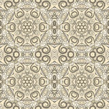 Ornamental beige seamless pattern Royalty Free Stock Photos
